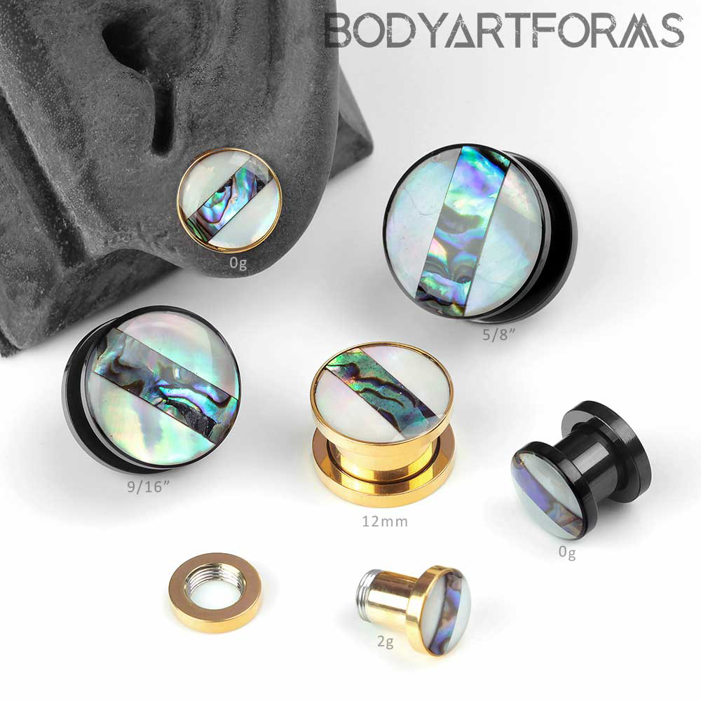 Abalone and Mother of Pearl Plugs