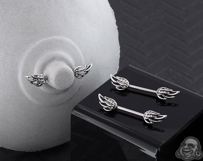 Angel Wings Nipple Barbell