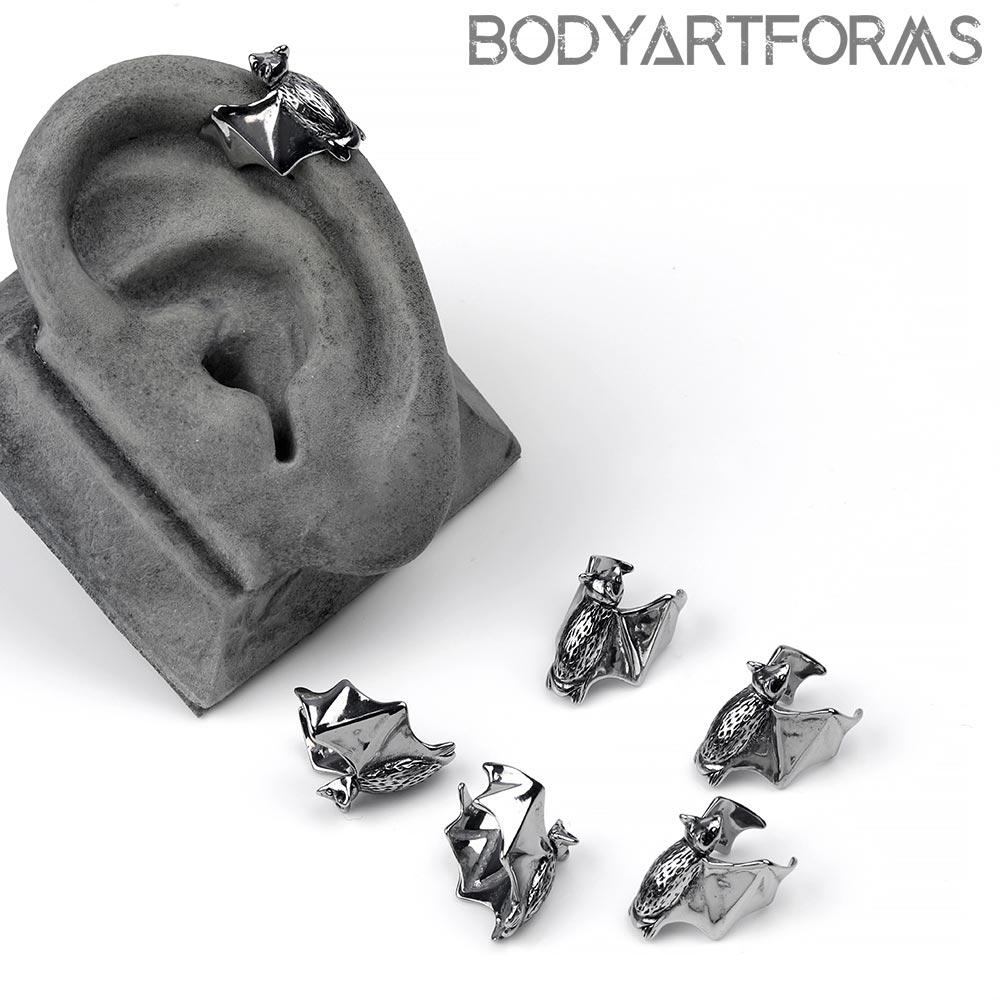 Steel Bat Ear Cuff