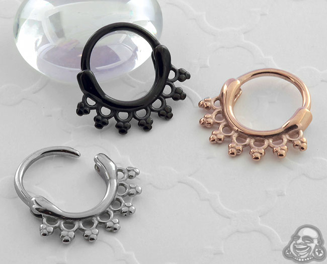 Beaded Lace Septum Clicker Ring