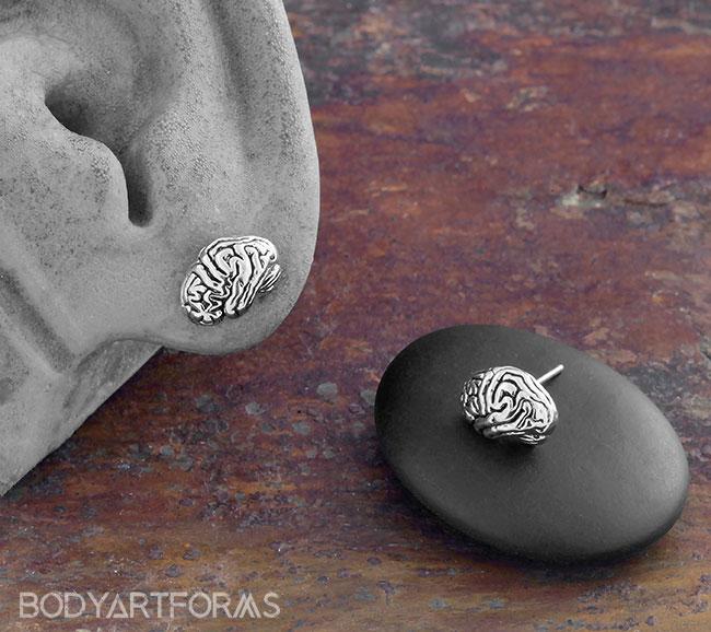 Brain Earrings
