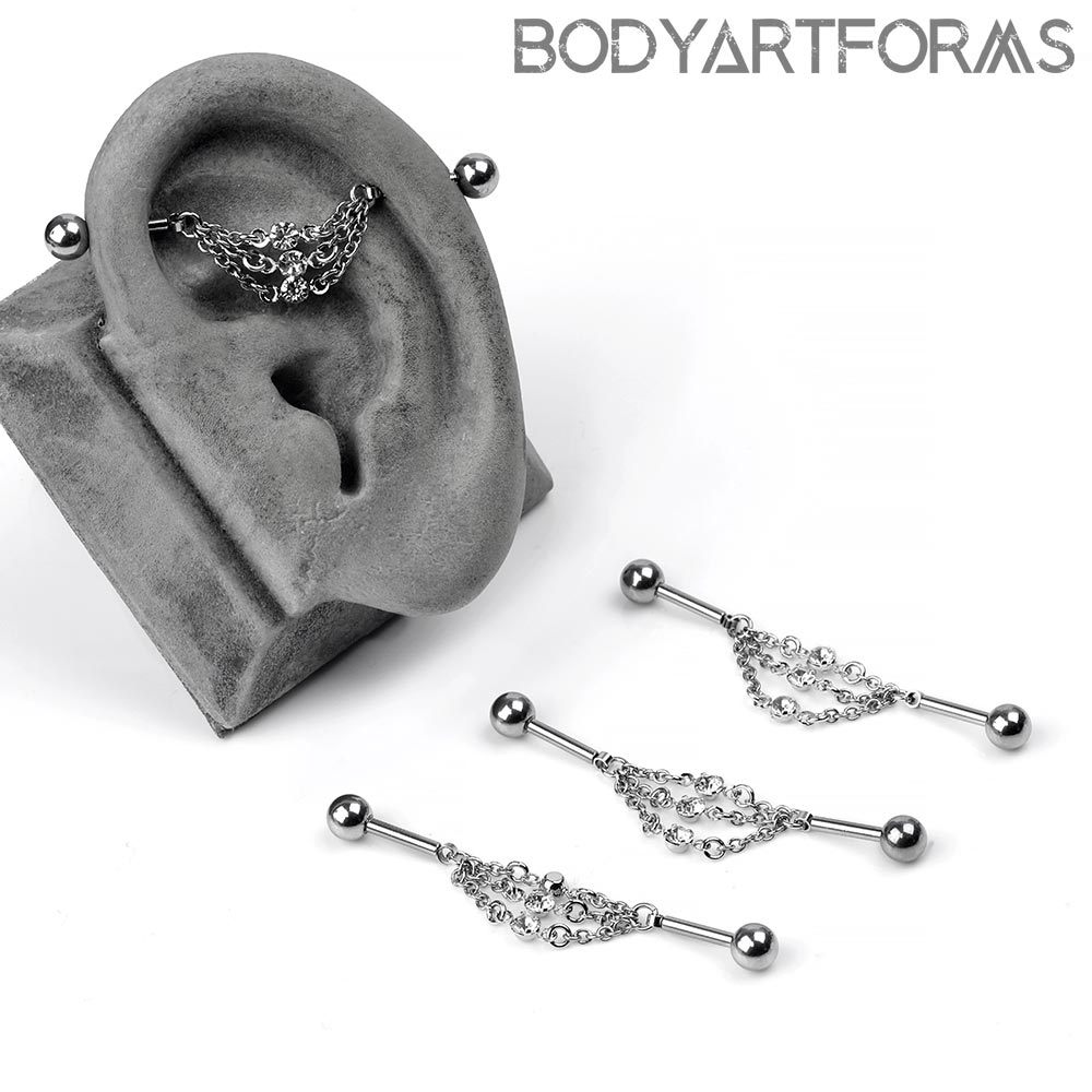 Steel and Triple Chain Floating Industrial Barbell