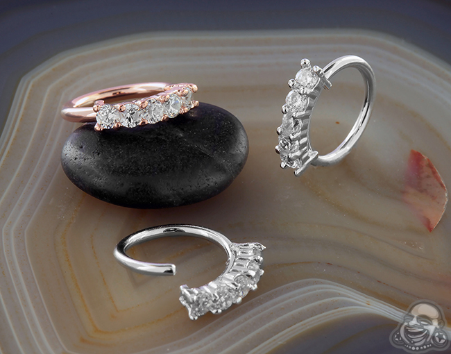 CZ Paved Seamless Ring