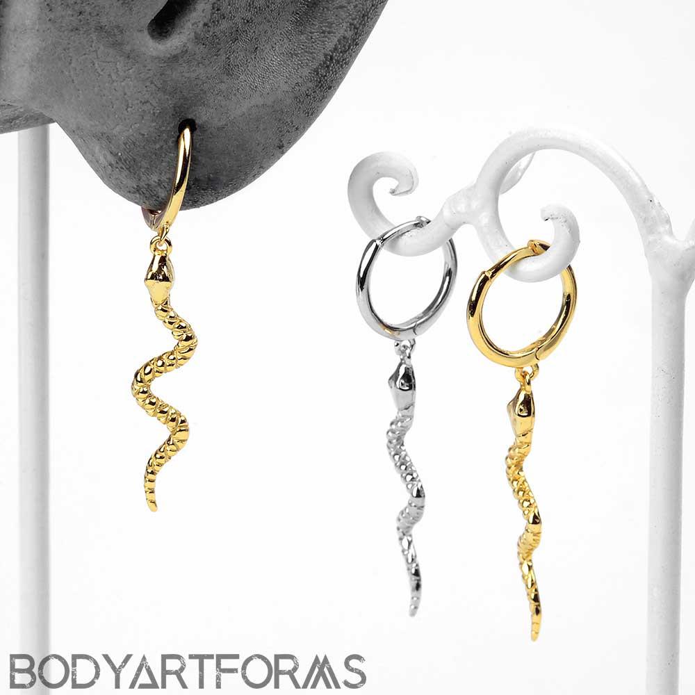 Dangle Snake Huggie Earring
