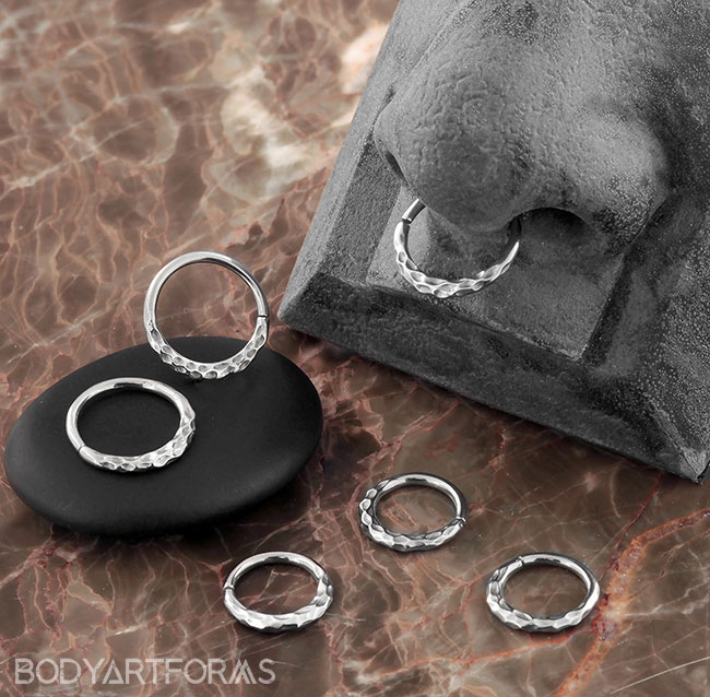Hammered Seamless Ring