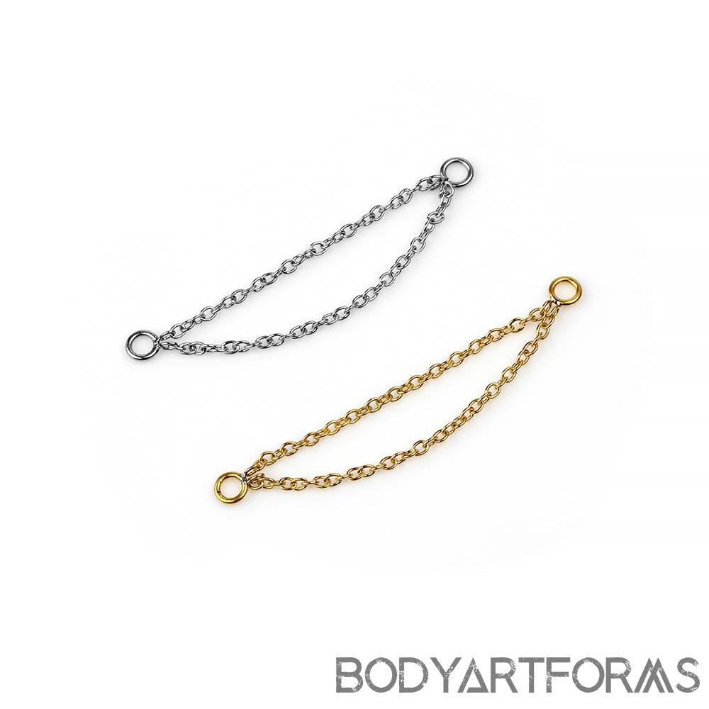 Steel Double Nostril Chains