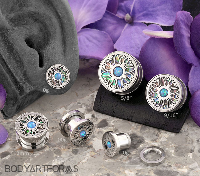 Embellished Mosaic Plugs