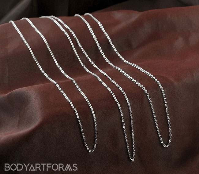 Flat Link Cable Necklace Chain