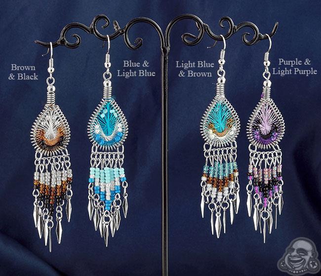 9573b992772c7 Woven Teardrop Dream Catcher Earrings