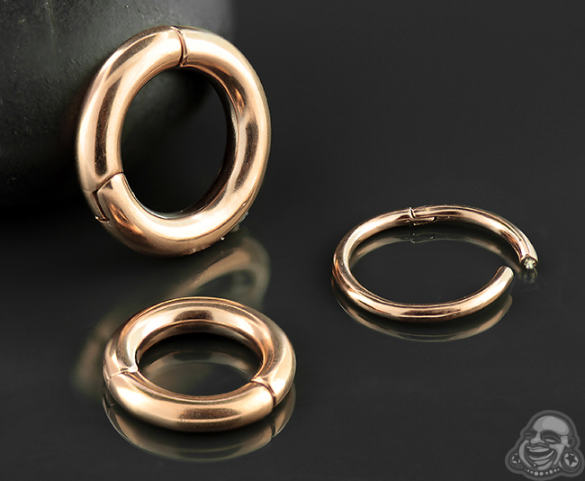 Rose Gold Colored Clicker Ring