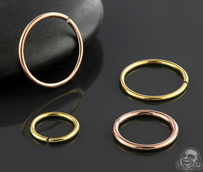 Pvd Plated Seamless Ring
