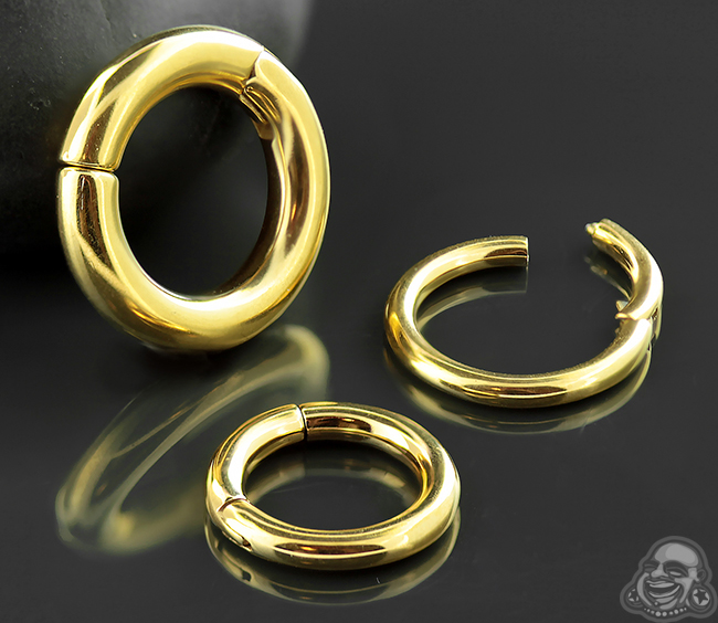 Gold Plated Clicker Ring