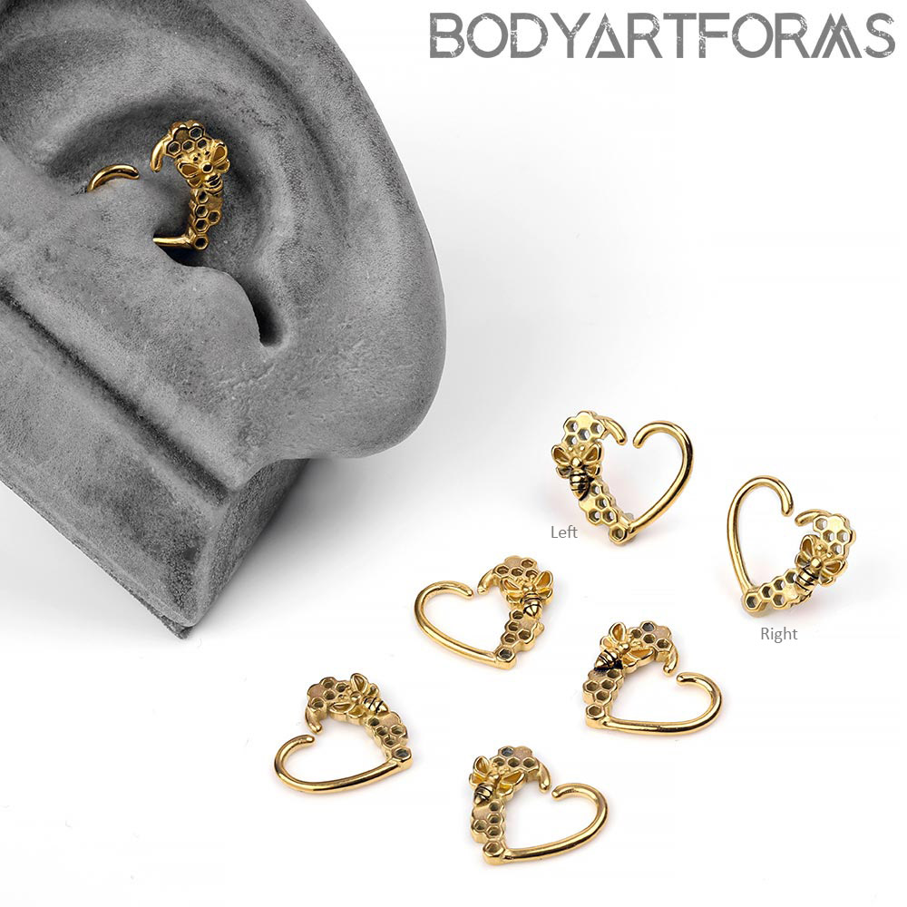 Golden Bumble Bee Seamless Ring