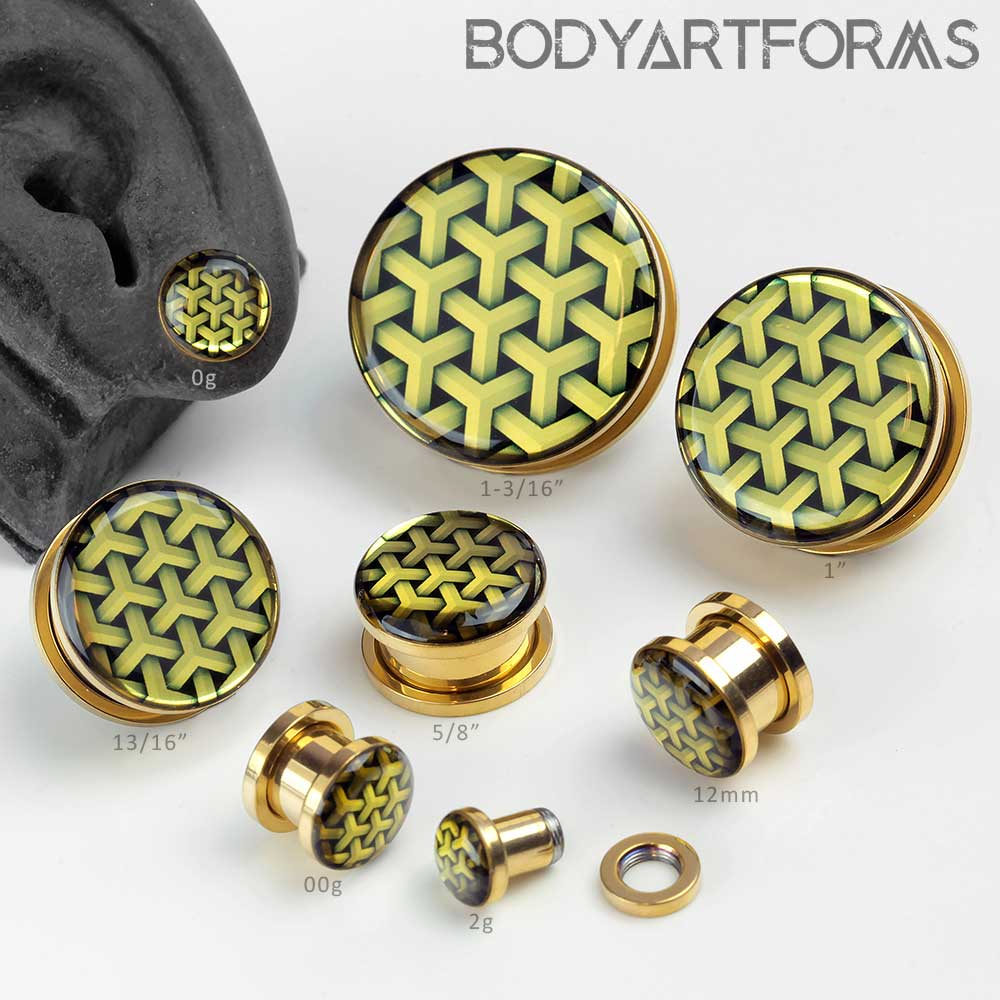 Golden Geometric Image Plugs
