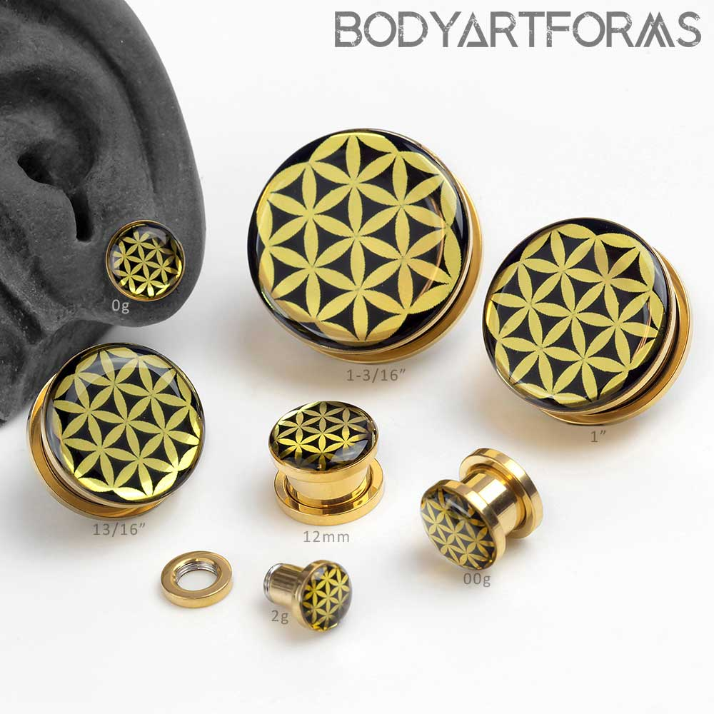 Golden Seed of Life Plugs