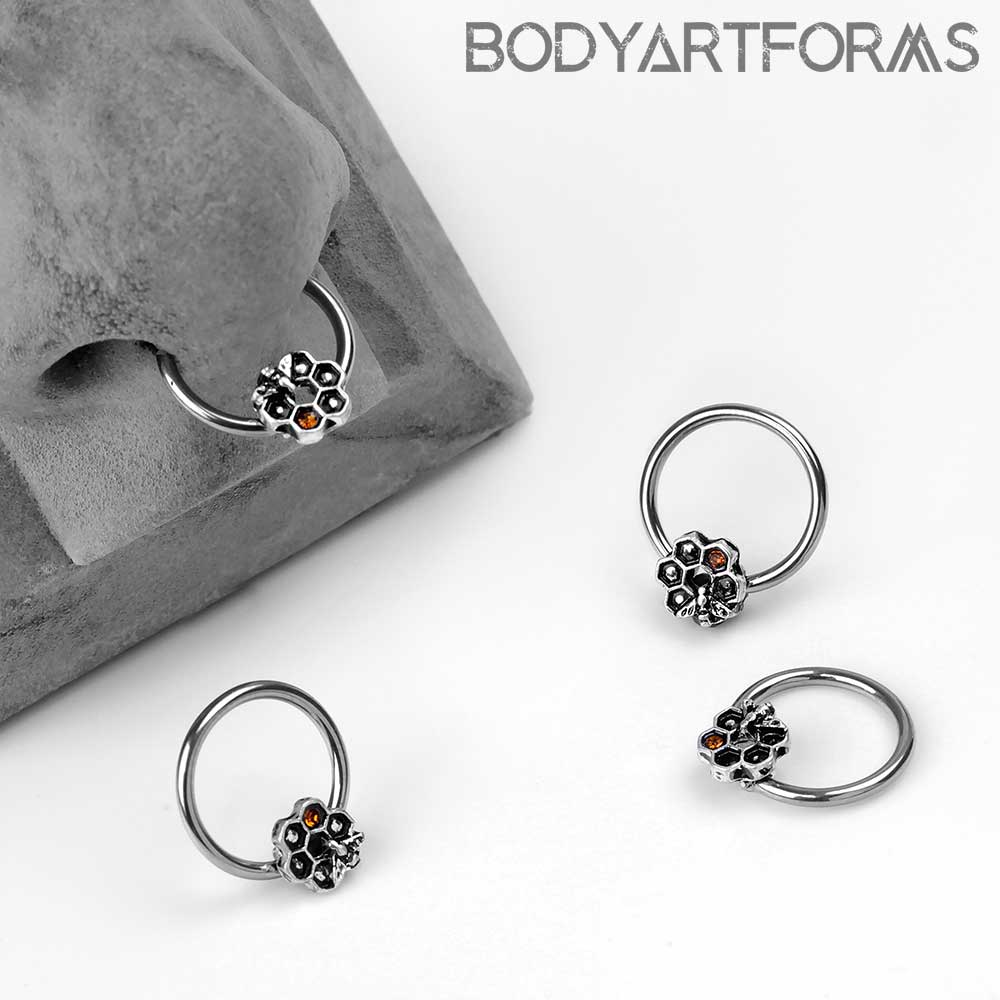 Honeycomb Captive Bead Ring