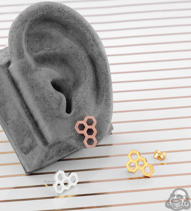 Honeycomb Stud Earrings