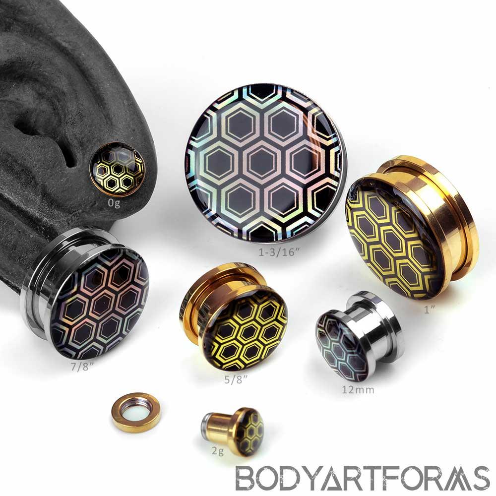 Iridescent Honeycomb Plugs