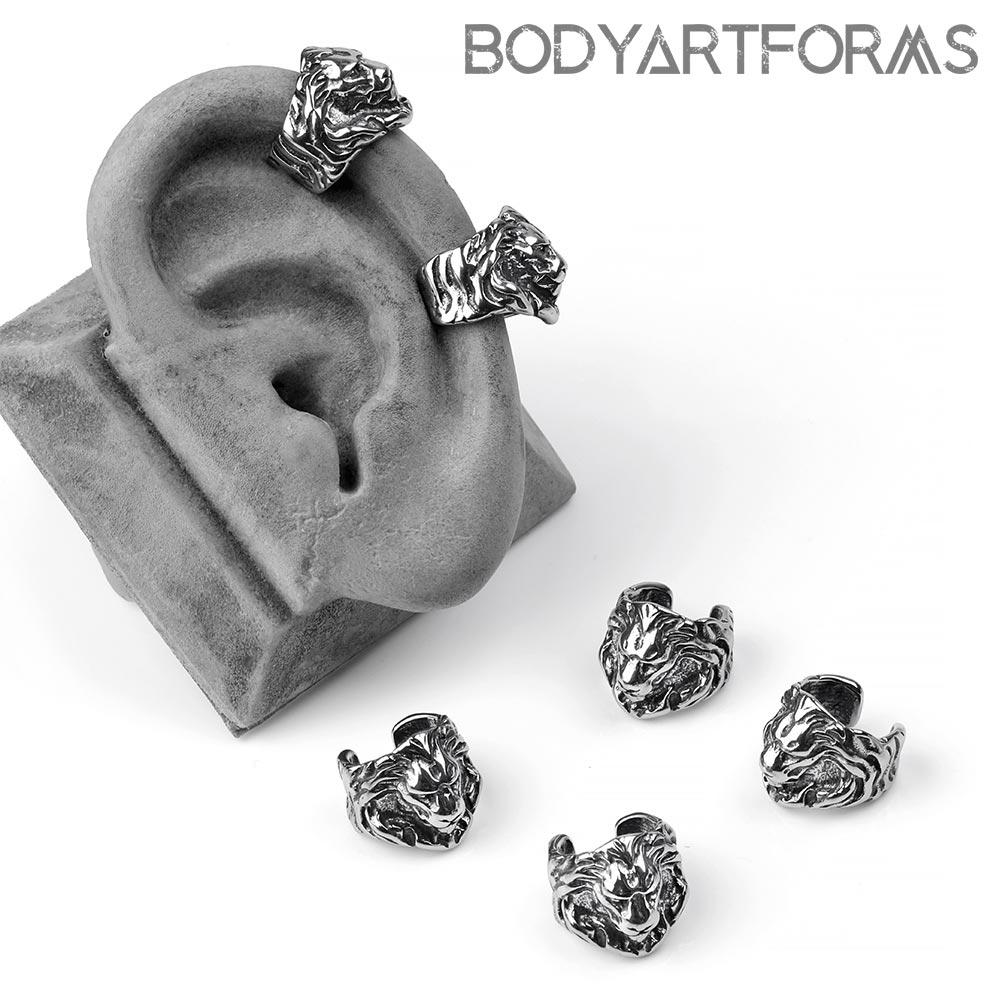 Steel Lion Ear Cuff