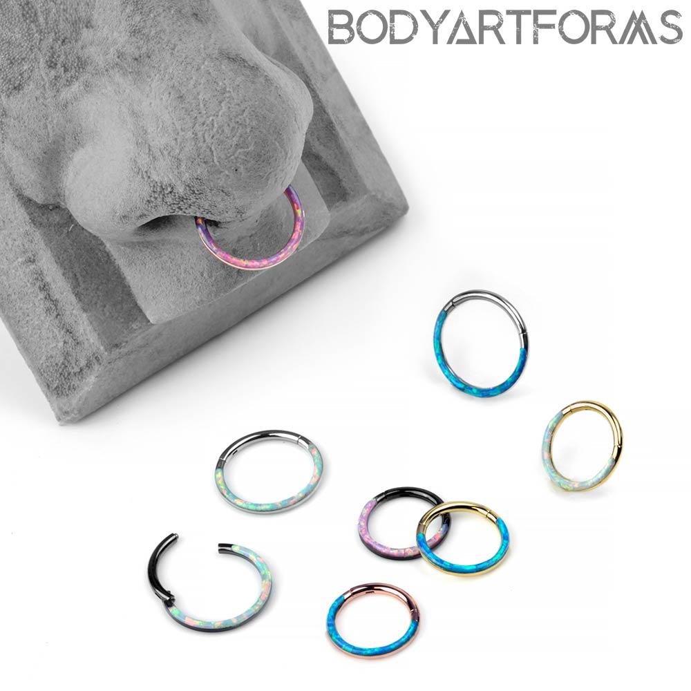 Steel and Synthetic Opal Front-Lined Clickers