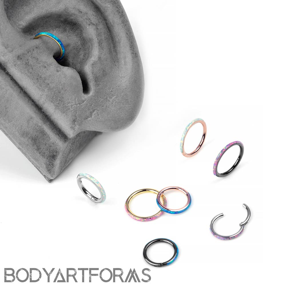 Steel and Synthetic Opal Lined Clickers