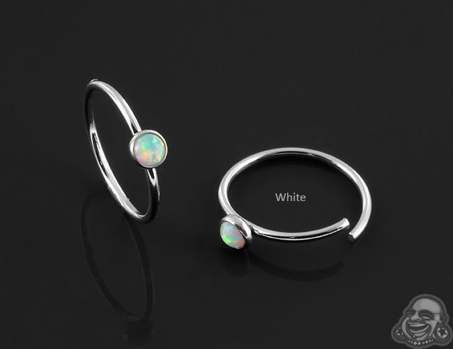 Synthetic Opal Seamless Ring