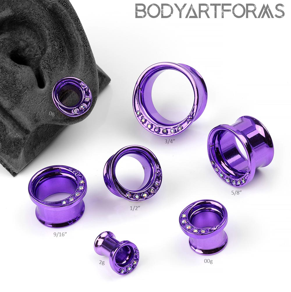 Steel Purple Crescent Eyelets