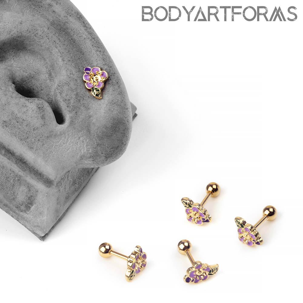 Purple Hibiscus Barbell