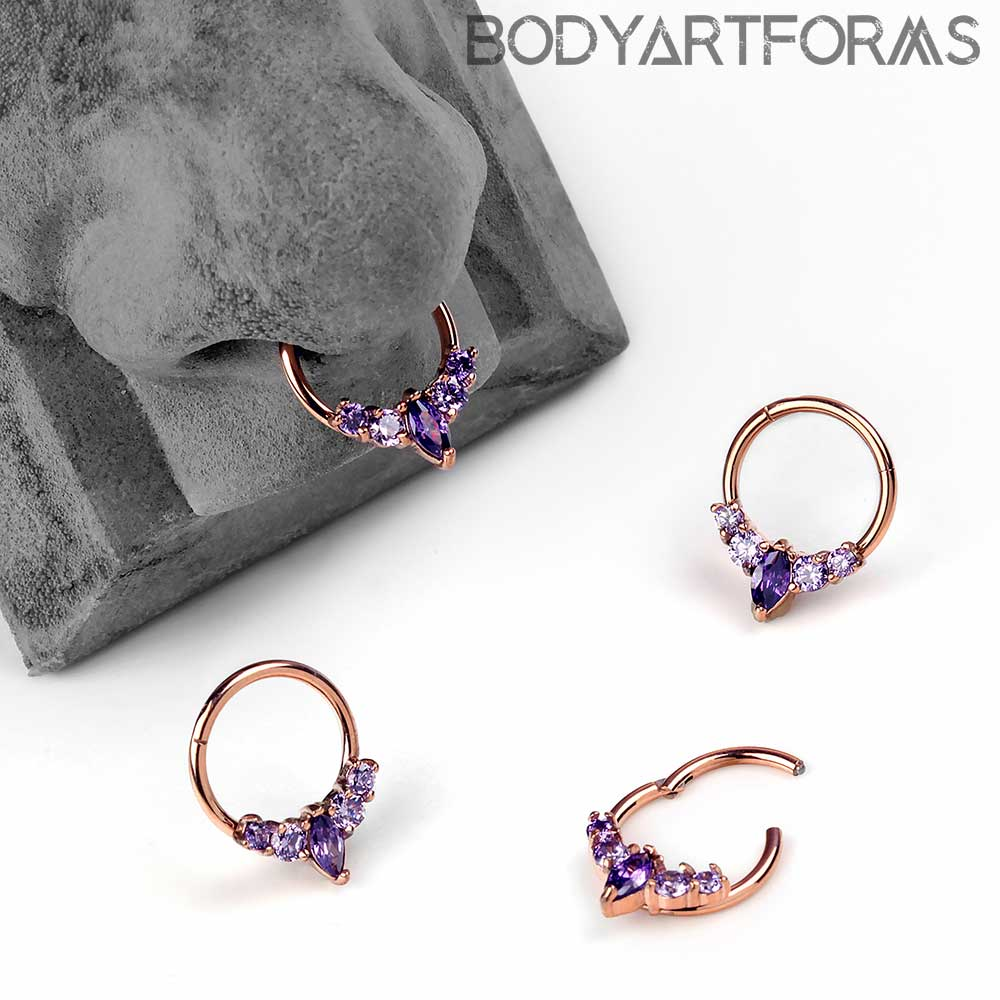 Purple Marquise Clicker Ring
