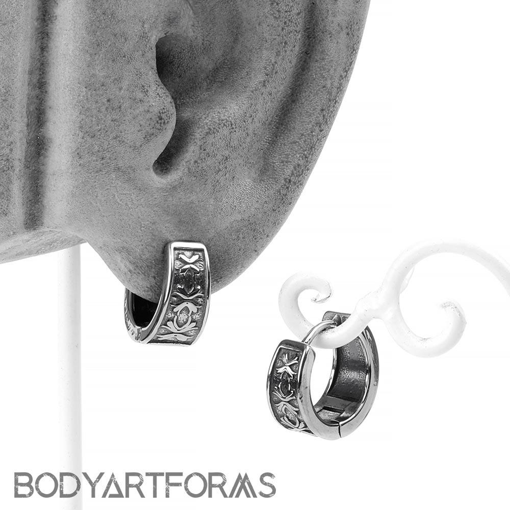 Steel Royal Huggie Earring