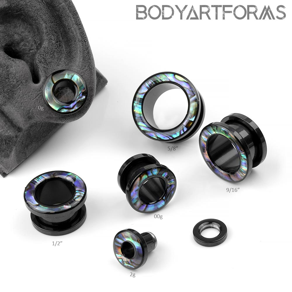 Steel and Abalone Eyelets