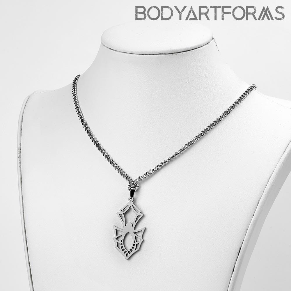 Steel Spider Necklace