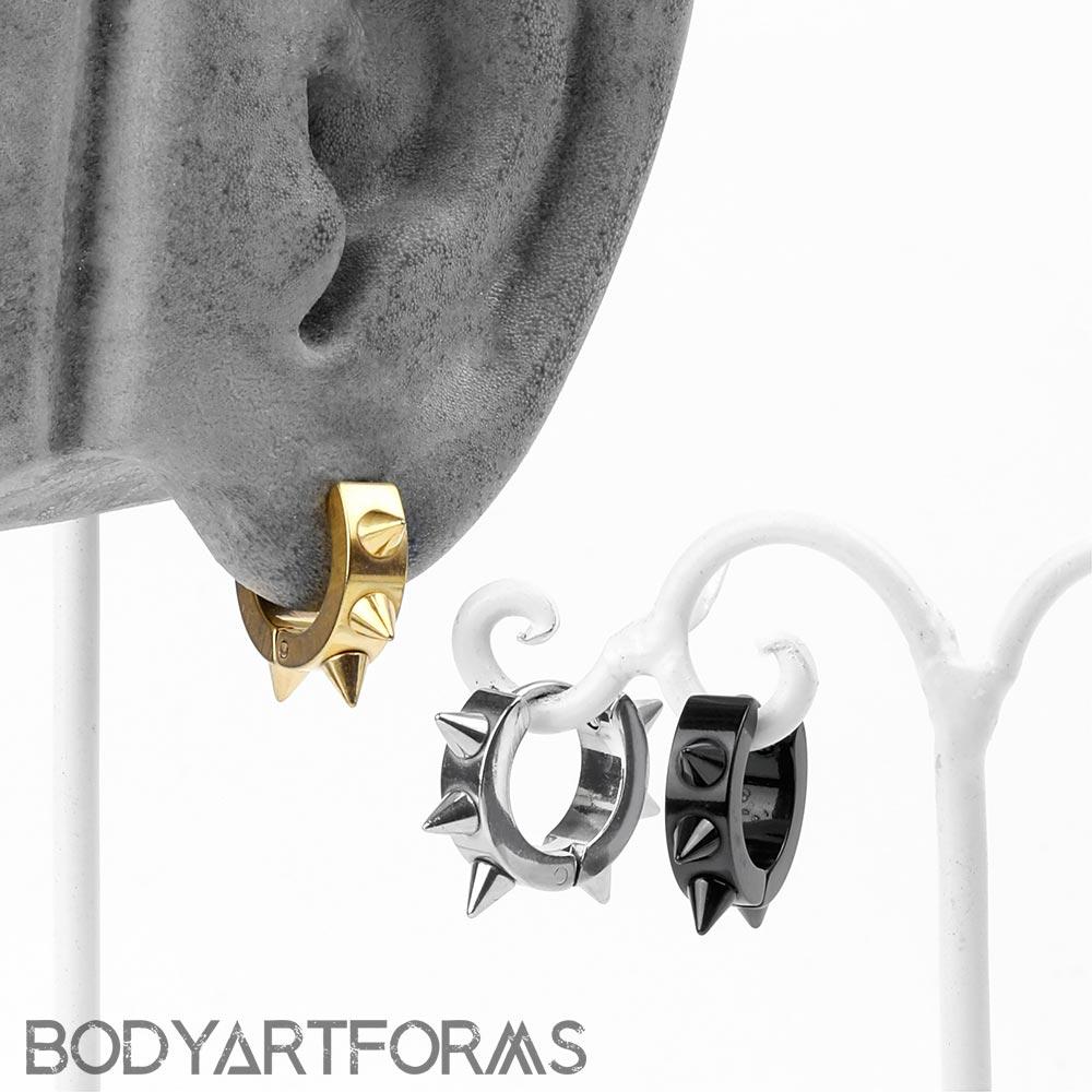 Spike Huggie Earring