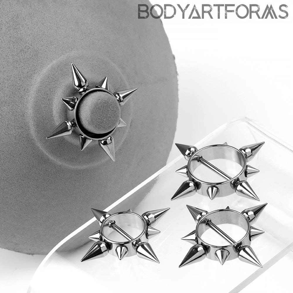Steel Spiked Circular Nipple Shield