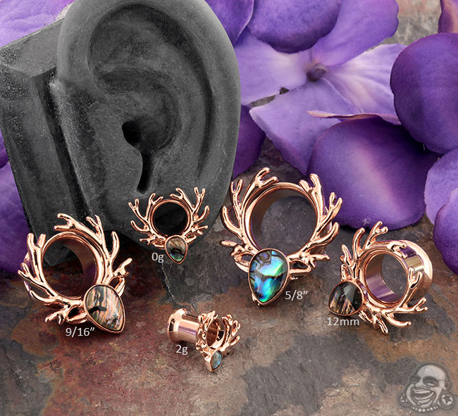 Rose Gold and Abalone