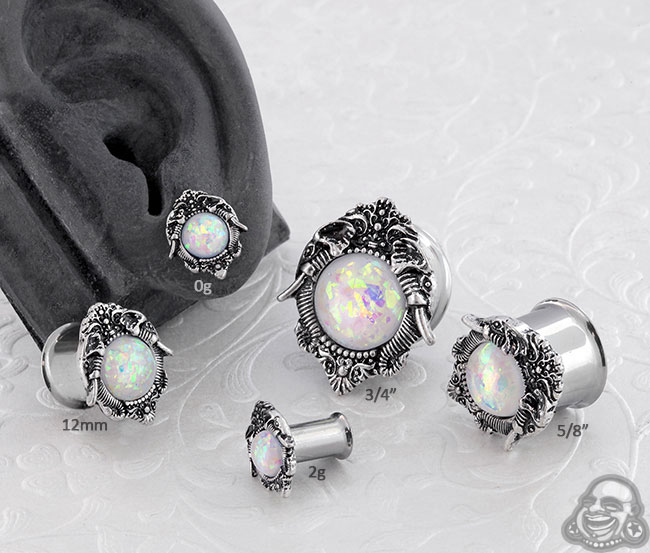 Synthetic Opal Elephant Plugs