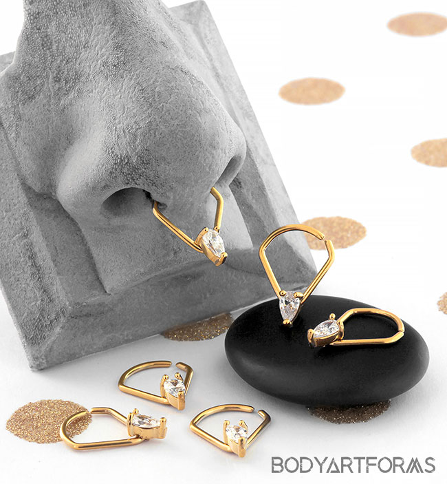 Teardrop Gem Seamless Ring