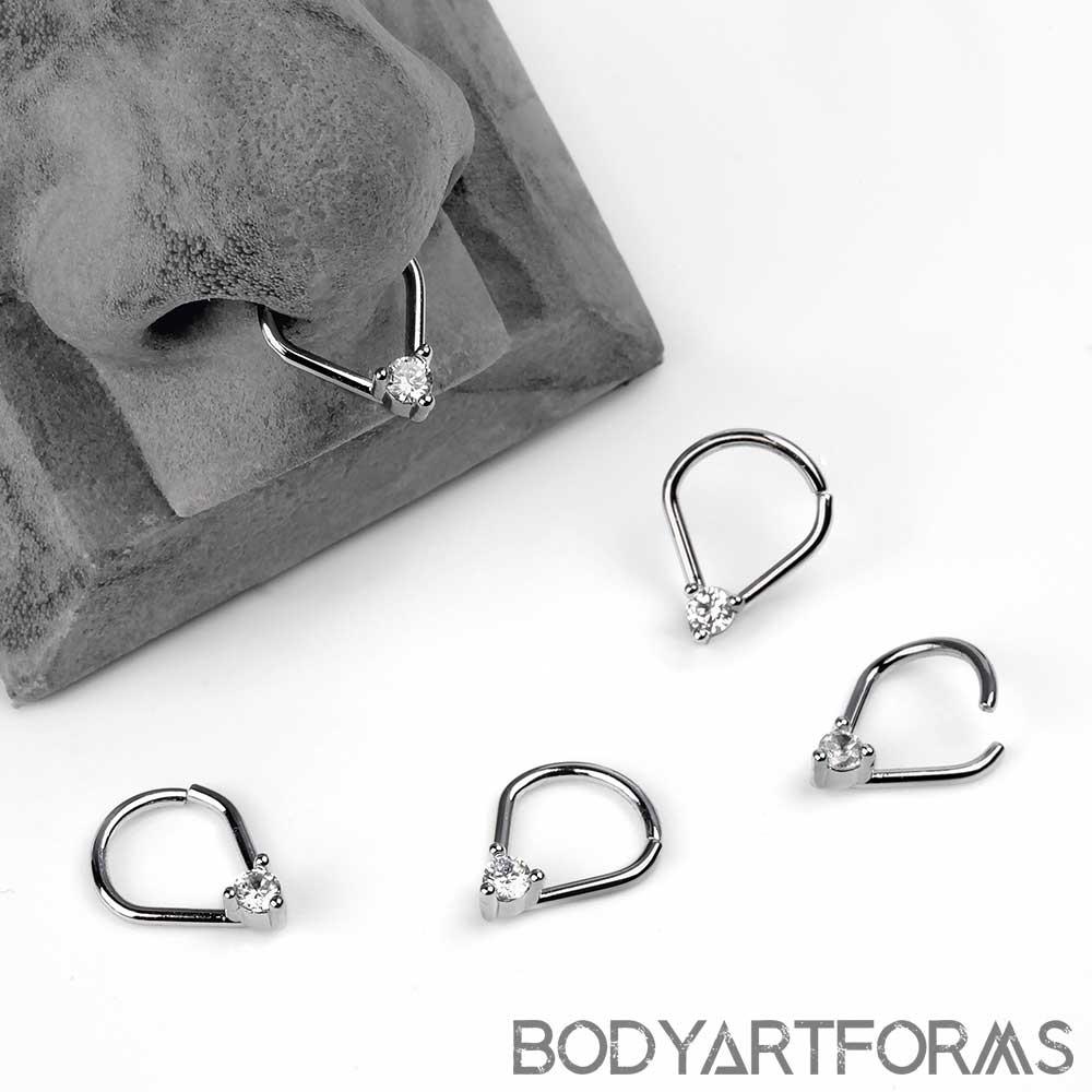 Teardrop Jeweled Seamless Ring