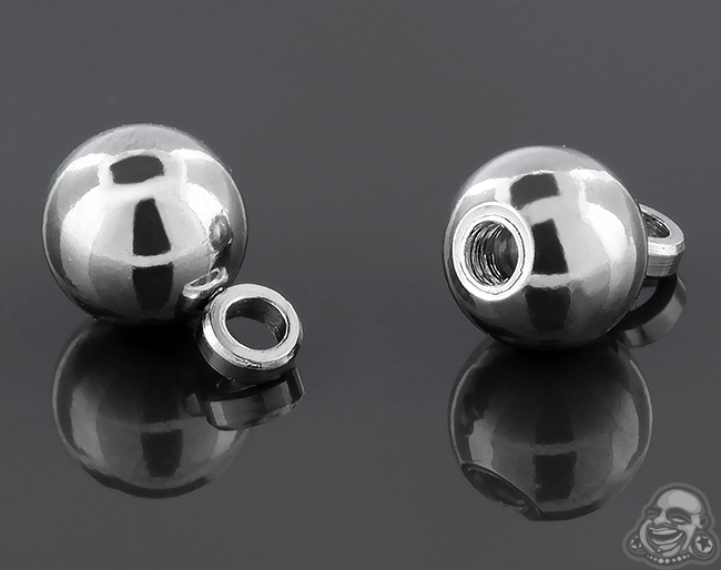Threaded Steel Ball with Hoop