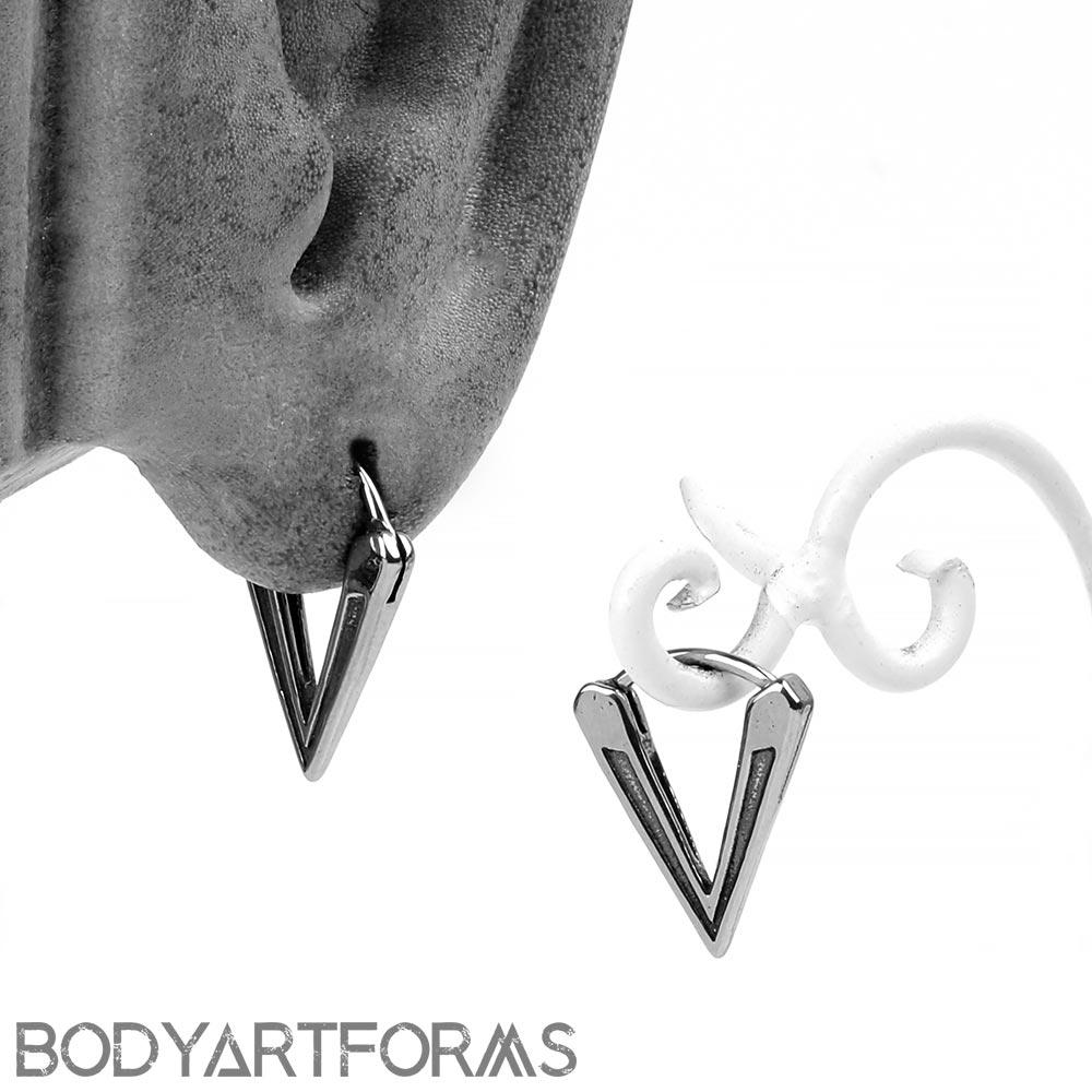 Steel Triad Huggie Earring