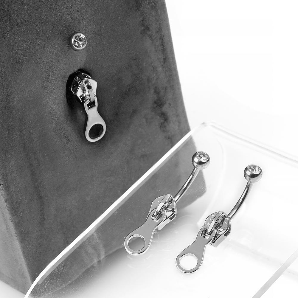 Steel Zipper Navel