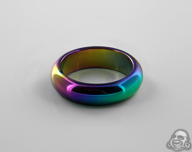 edward groove black men ring titanium rainbow rings mirell anodized with by s