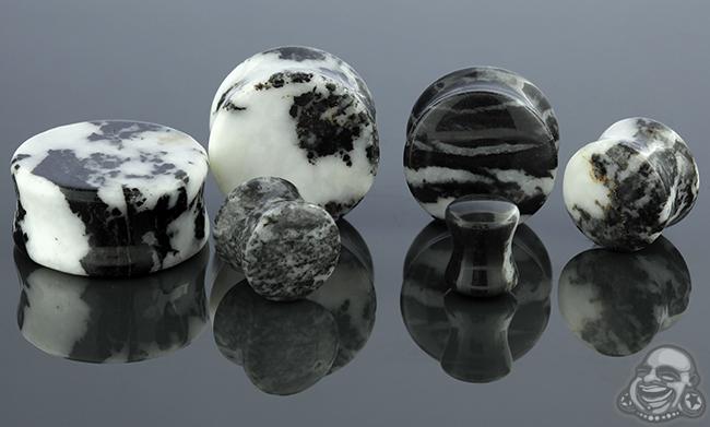 Zebra Jasper Stone Plug