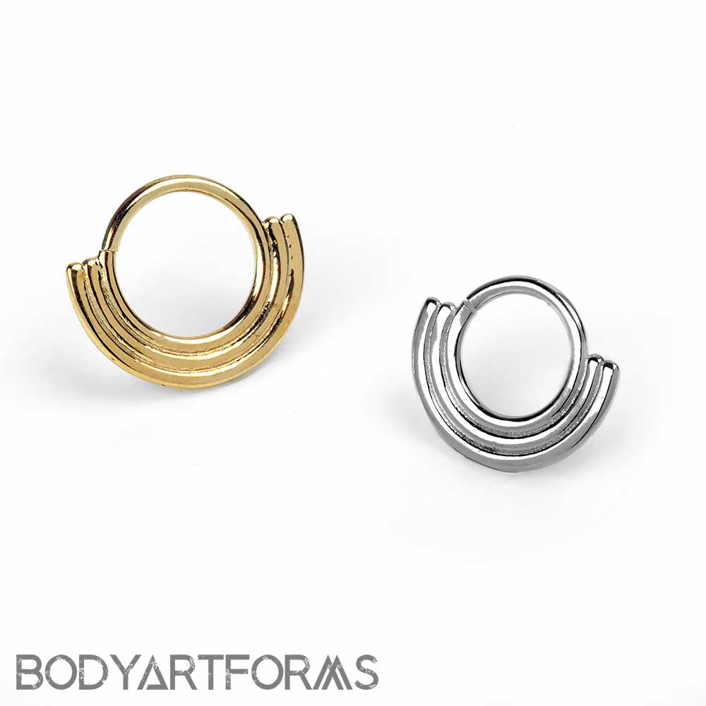 Solid 14k Gold Aura Seamless Ring