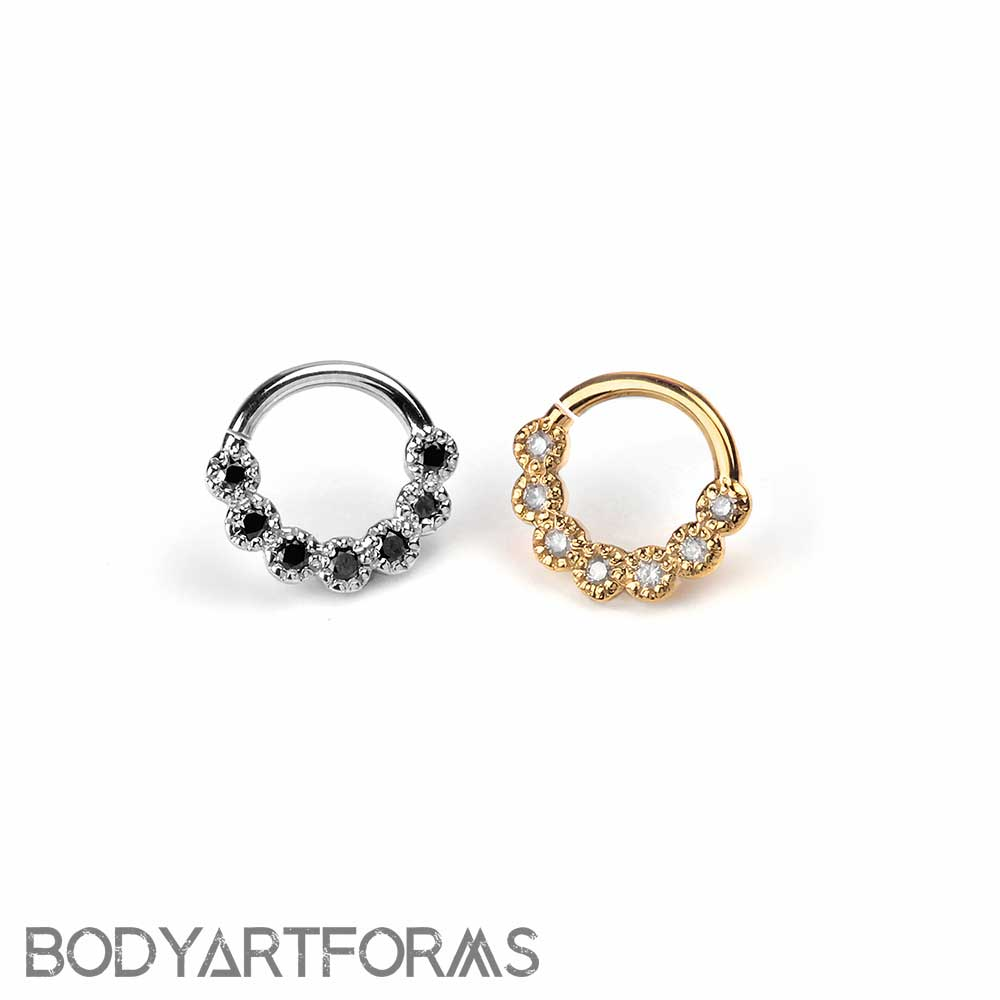 14K Gold Daisy Chain Seamless Ring