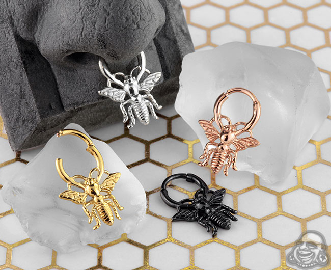 Bee Septum Clicker Nose Ring Fashion