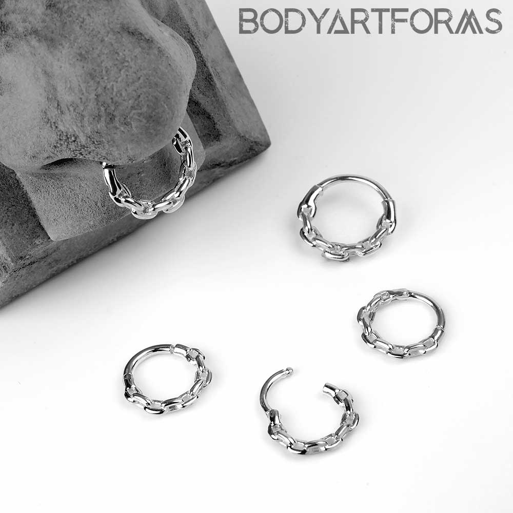 Chain Link Septum Clicker Ring