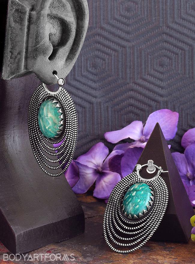 Epaulette Design with Amazonite