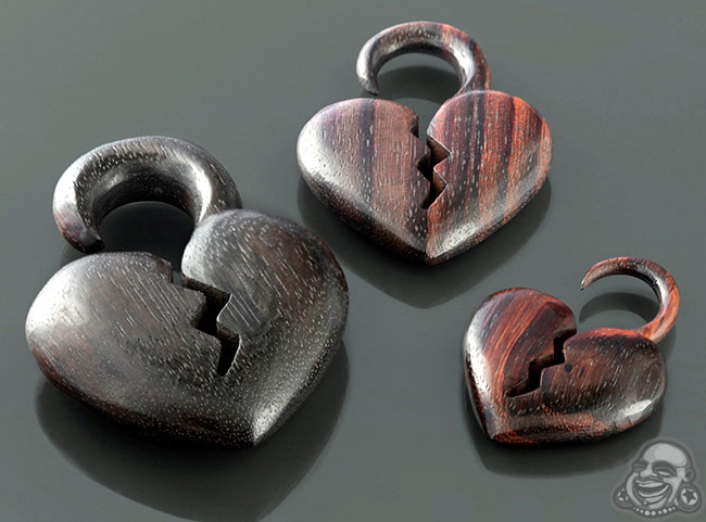 Ebony Wood Broken Hearted Design