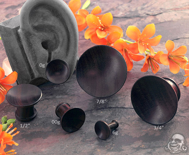 Ebony Wood Singing Bowl Plugs